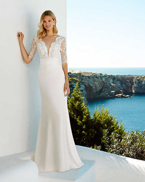 GOYA Wedding                                          dress by Aire Barcelona Beach Wedding