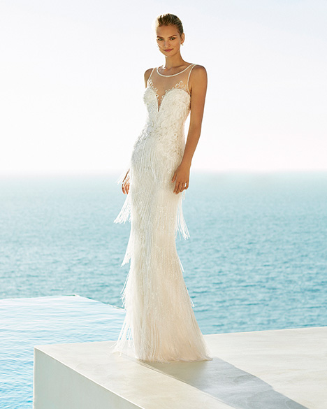 GALANES Wedding                                          dress by Aire Barcelona Beach Wedding