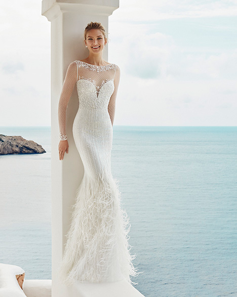 GALE Wedding                                          dress by Aire Barcelona Beach Wedding