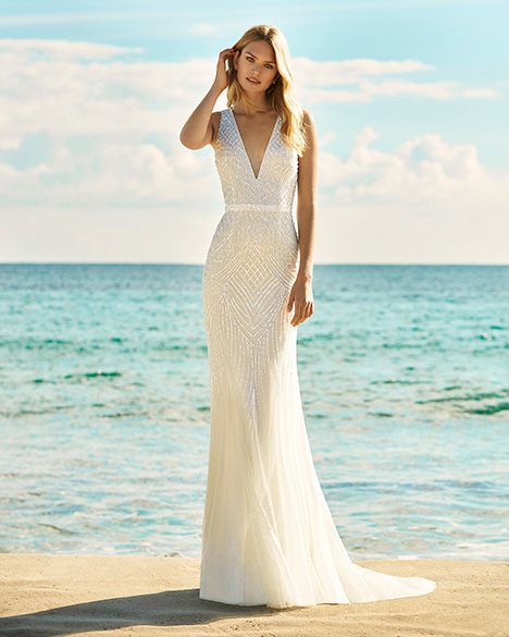 GARBI Wedding                                          dress by Aire Barcelona Beach Wedding