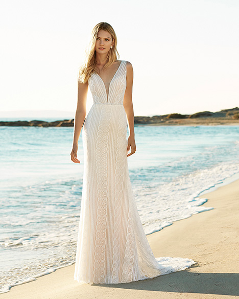 GAURA Wedding                                          dress by Aire Barcelona Beach Wedding