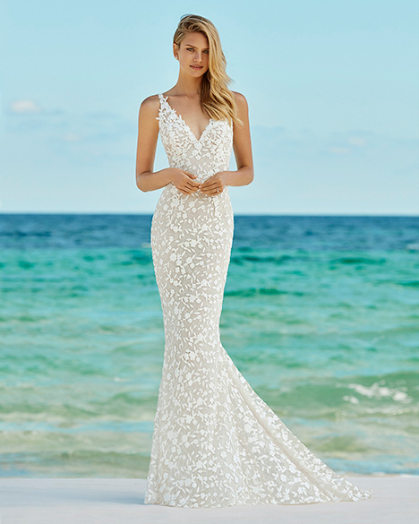 GAZELA Wedding                                          dress by Aire Barcelona Beach Wedding