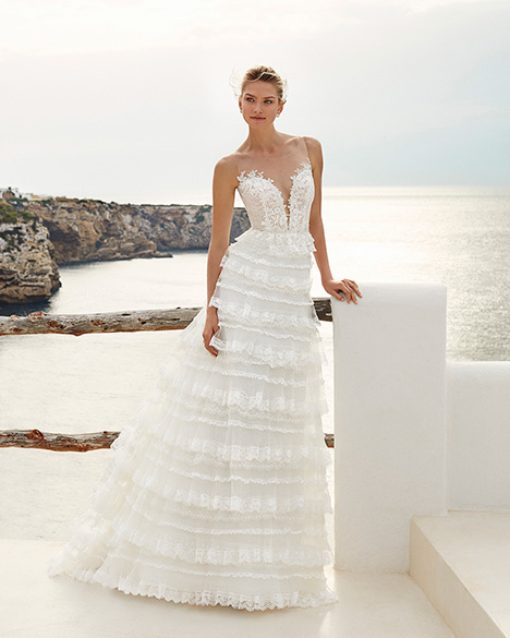 GENOVEVA Wedding                                          dress by Aire Barcelona Beach Wedding