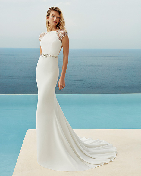 GRECO Wedding                                          dress by Aire Barcelona Beach Wedding