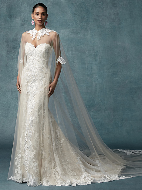 England Dawn (+ cape) Wedding                                          dress by Maggie Sottero