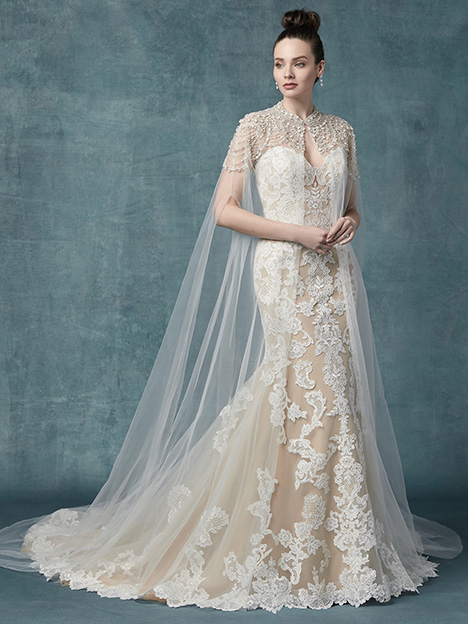 Janson (+ cape) Wedding                                          dress by Maggie Sottero
