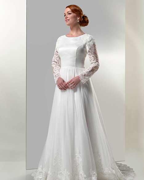 TB7768 Wedding                                          dress by Venus Modest