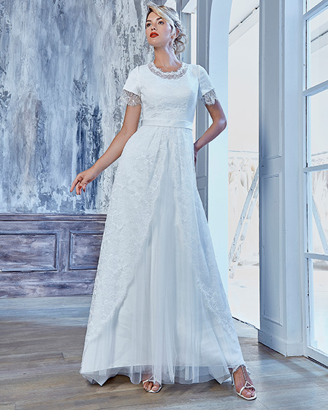 TB7774 Wedding                                          dress by Venus Modest