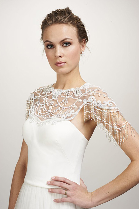 Rihanna Capelet Wedding dress by Theia White Collection