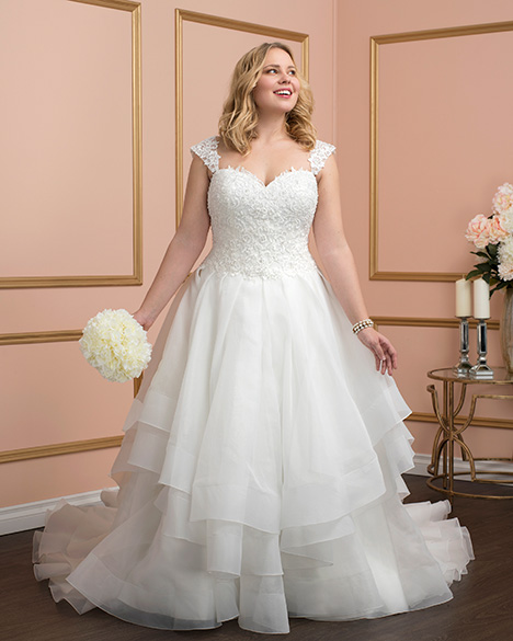 8025w Wedding                                          dress by Romantic Bridals: Curvy Bride