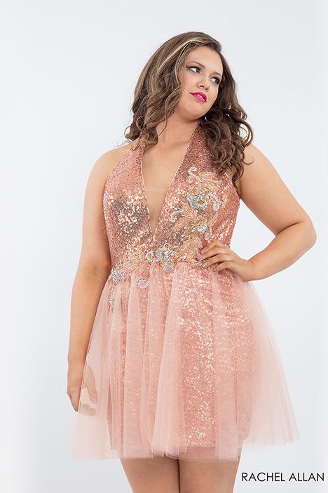 4801 (blush) Prom                                             dress by Rachel Allan : Curves