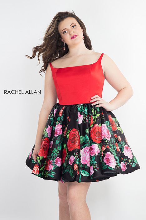 4807 (red) Prom                                             dress by Rachel Allan : Curves
