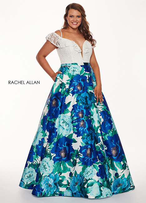 6672 (blue) Prom                                             dress by Rachel Allan : Curves