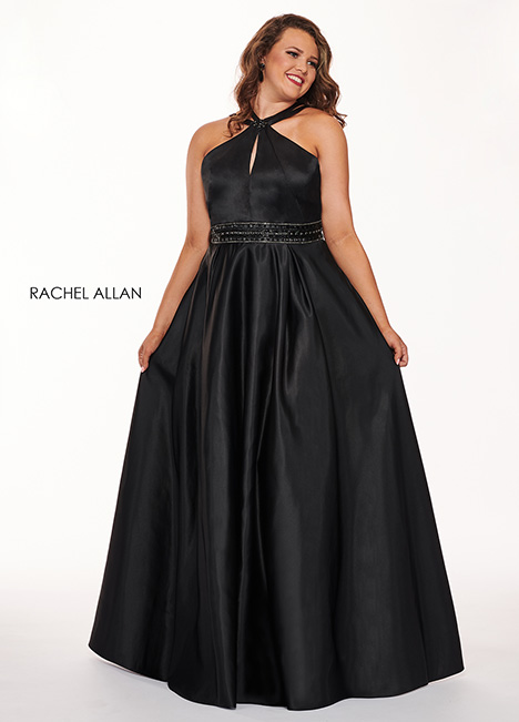 6674 (black) Prom                                             dress by Rachel Allan : Curves