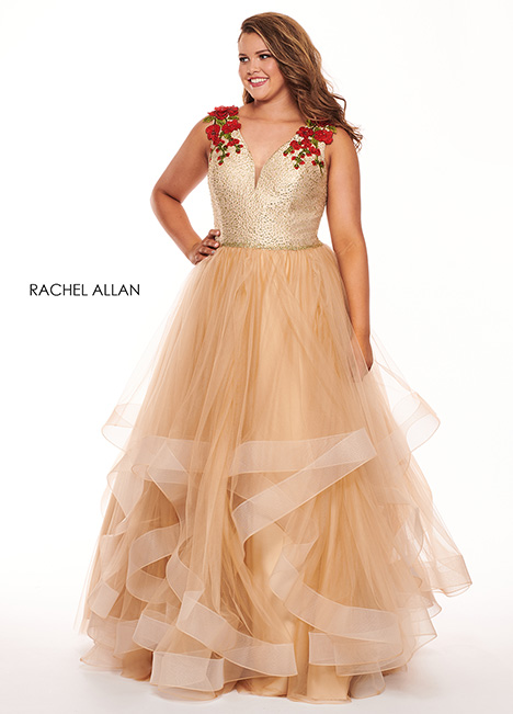 6675 (champagne) Prom                                             dress by Rachel Allan : Curves