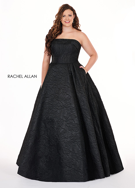 6679 (black) Prom                                             dress by Rachel Allan : Curves