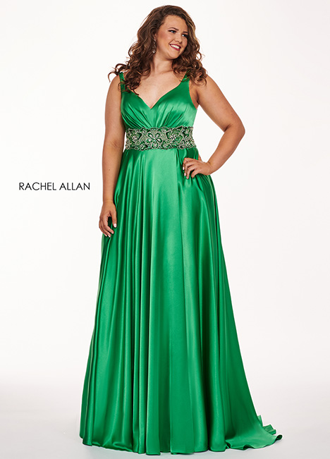 6681 (green) gown from the 2019 Rachel Allan : Curves collection, as seen on dressfinder.ca