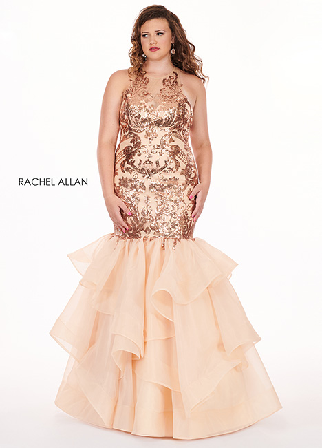 6688 (champagne) Prom                                             dress by Rachel Allan : Curves