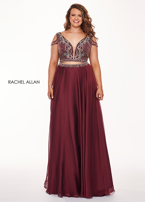 6693 (wine) Prom                                             dress by Rachel Allan : Curves