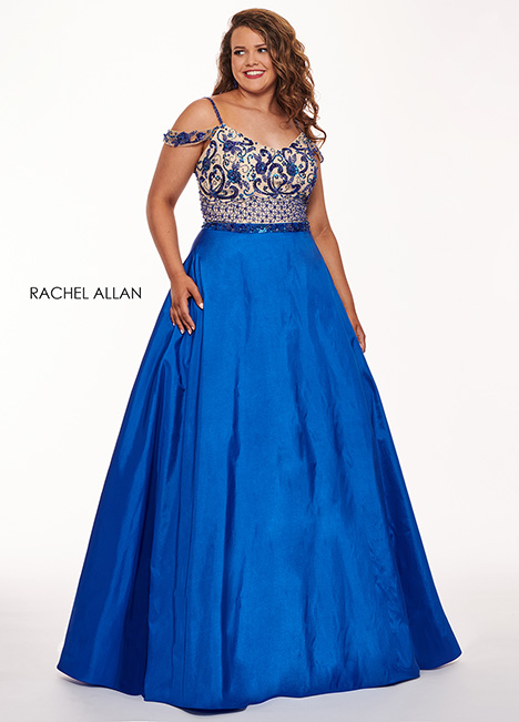 6696 (blue) Prom                                             dress by Rachel Allan : Curves