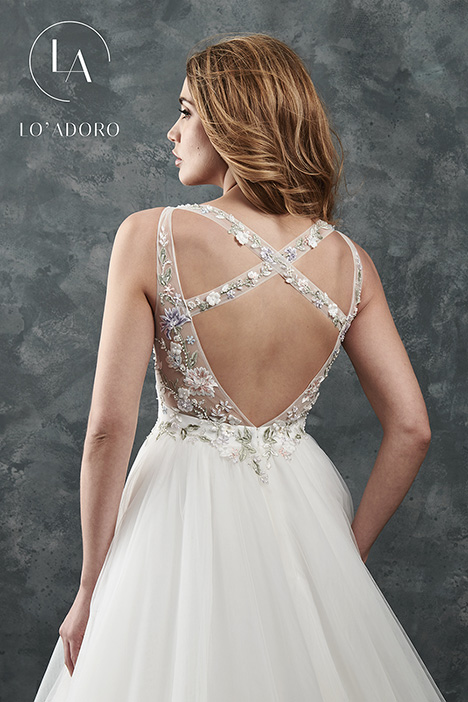 M645 (back) Wedding                                          dress by Lo' Adoro