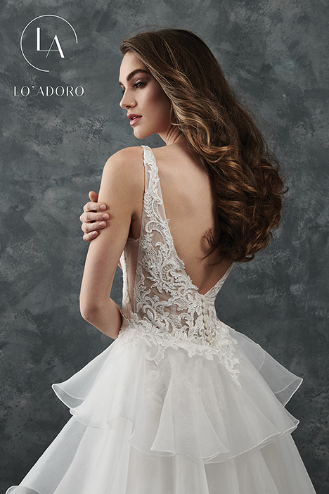 M654 (back) Wedding                                          dress by Lo' Adoro