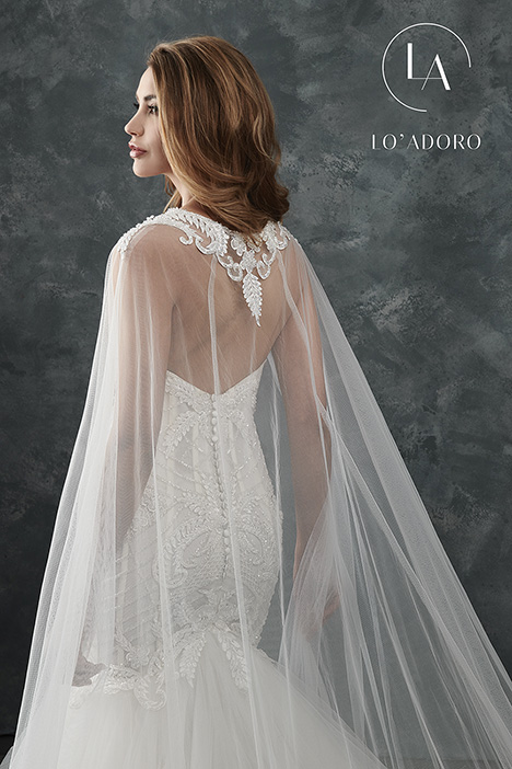 M660 + cape (back) Wedding                                          dress by Lo' Adoro
