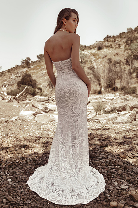 WA 9273 Back Wedding                                          dress by White April