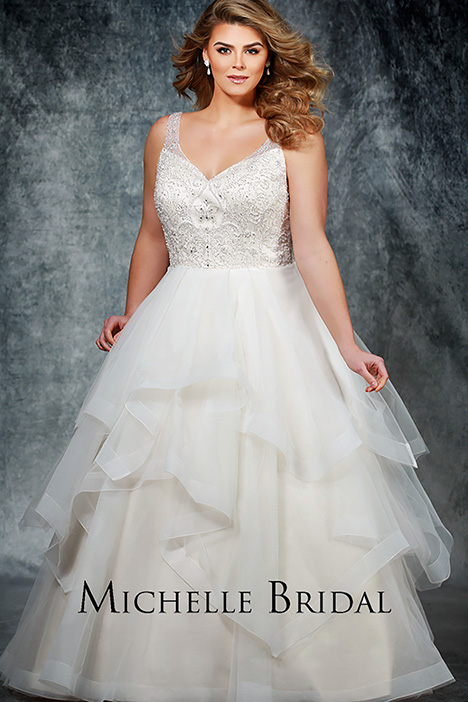 MB 1901 Front 1 Wedding                                          dress by Michelle Bridal+