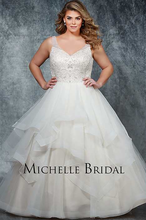 MB 1901 Front 2 Wedding                                          dress by Michelle Bridal+
