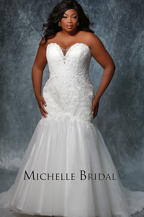 MB 1910 No Sleeve Wedding                                          dress by Michelle Bridal+