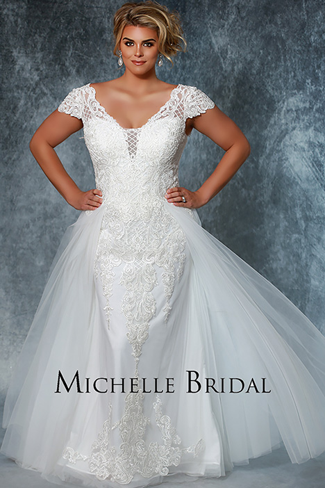 MB 1914 Front 1 Wedding                                          dress by Michelle Bridal+