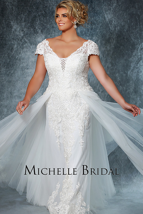 MB 1914 Front 2 Wedding                                          dress by Michelle Bridal+