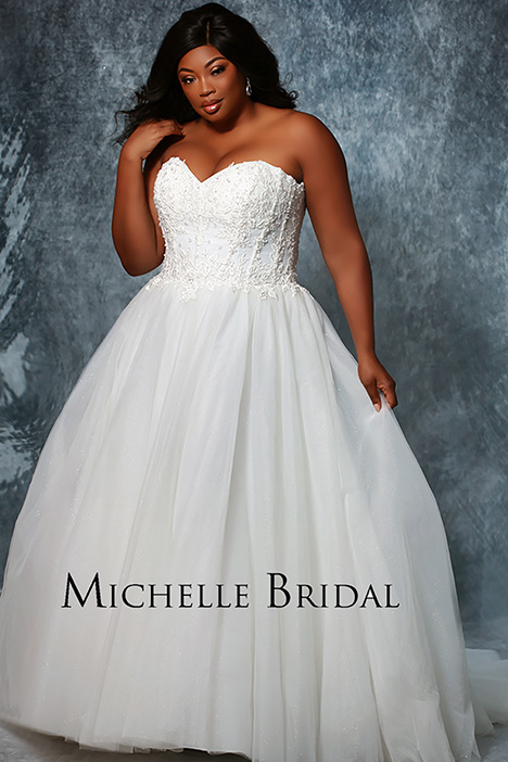 MB 1916 Front 2 Wedding                                          dress by Michelle Bridal+