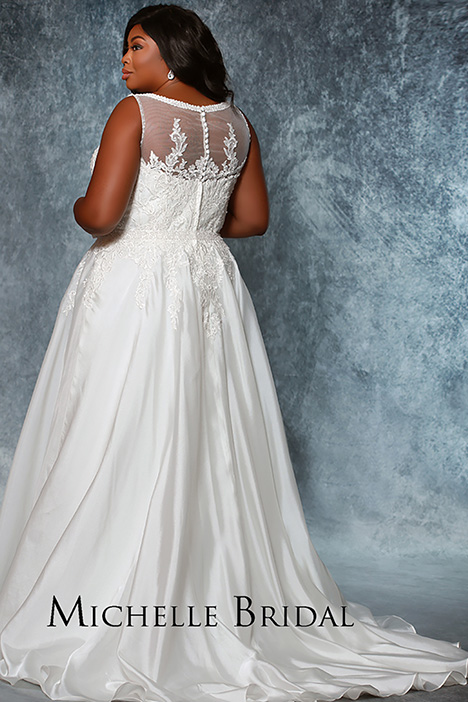 MB1934 Back Wedding dress by Michelle Bridal+