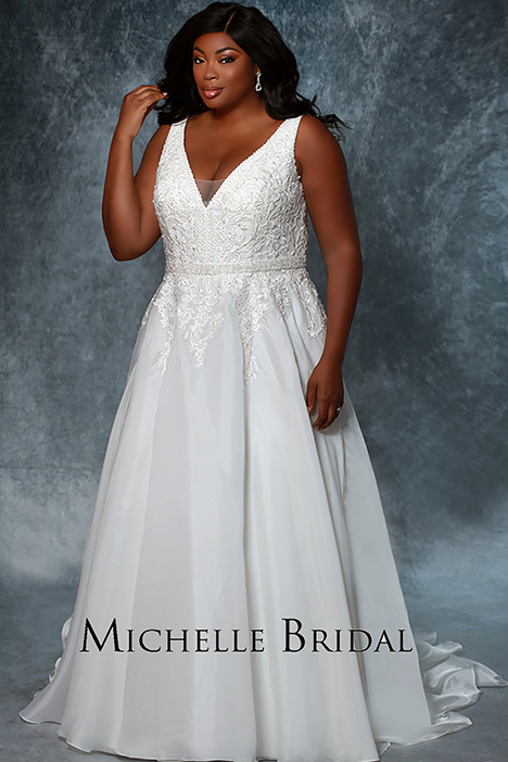MB1934 Front Wedding dress by Michelle Bridal+