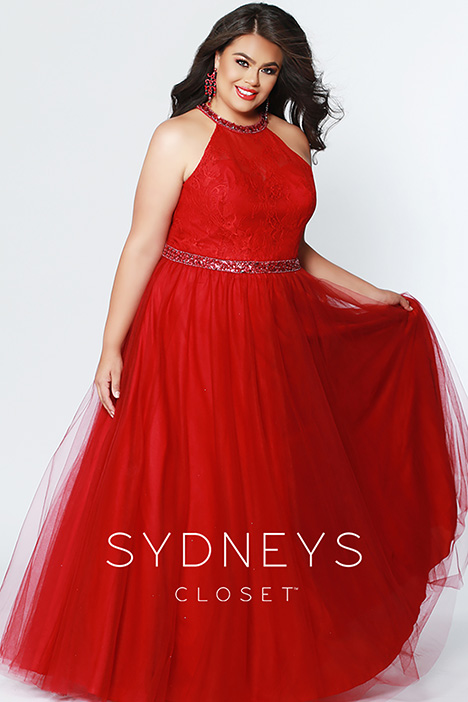 SC 7247 Burgundy Prom                                             dress by Sydney's Closet Prom+