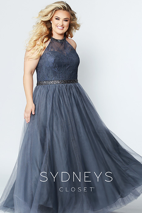 SC 7247 Charcoal Prom dress by Sydney's Closet Prom+