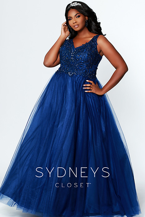 SC 7248 Navy Prom                                             dress by Sydney's Closet Prom+