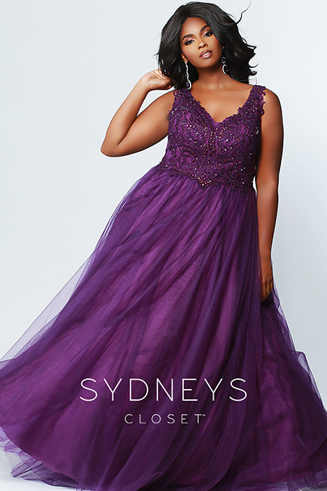 SC 7248 Plum Prom                                             dress by Sydney's Closet Prom+