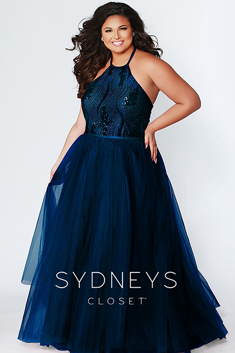 SC 7260 Navy Prom                                             dress by Sydney's Closet Prom+