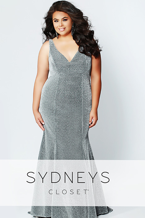 SC 7267 Silver Prom dress by Sydney's Closet Prom+