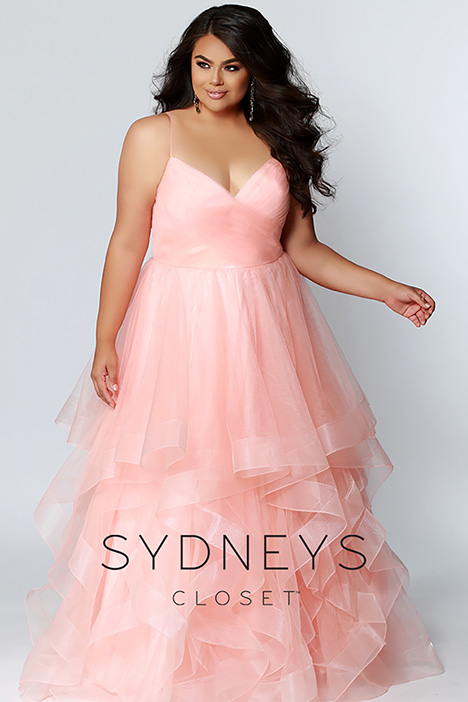 SC 7268 Peach Prom                                             dress by Sydney's Closet Prom+