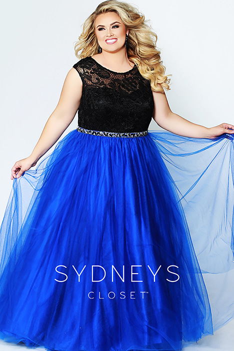 SC 7269 Blue Prom dress by Sydney's Closet Prom+