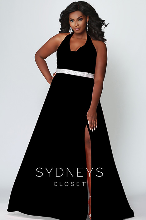 SC 7278 Black gown from the 2019 Sydney's Closet Prom+ collection, as seen on dressfinder.ca