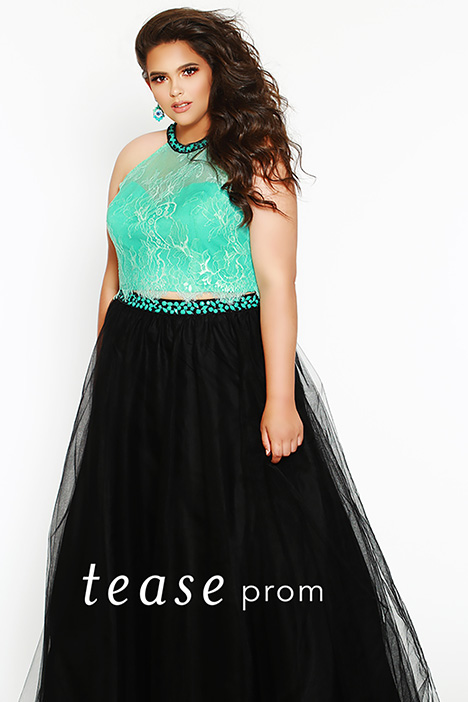TE 1717 Aqua Prom dress by Tease Prom+