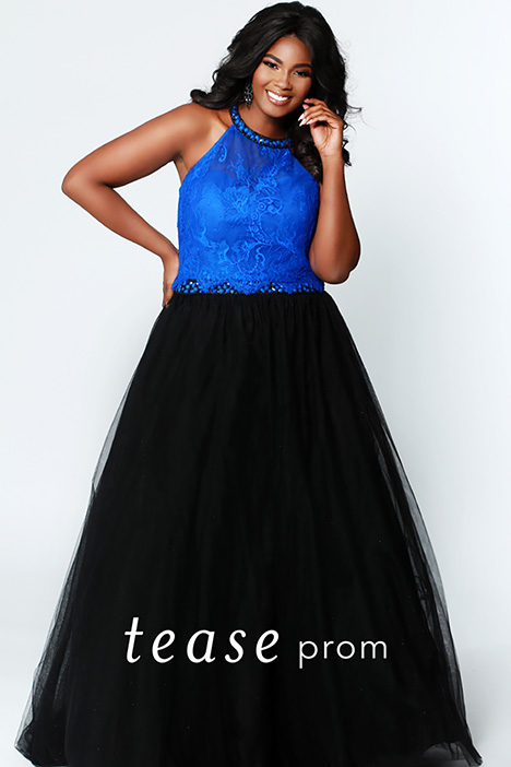 TE 1717 Blue Prom                                             dress by Tease Prom+