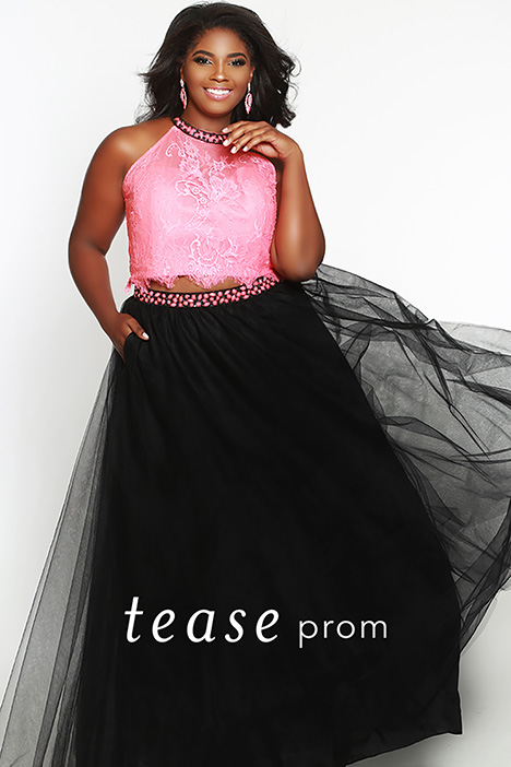 TE 1717 Melon gown from the 2019 Tease Prom+ collection, as seen on dressfinder.ca