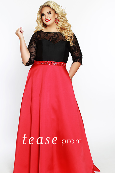 TE 1821 Red Prom                                             dress by Tease Prom+