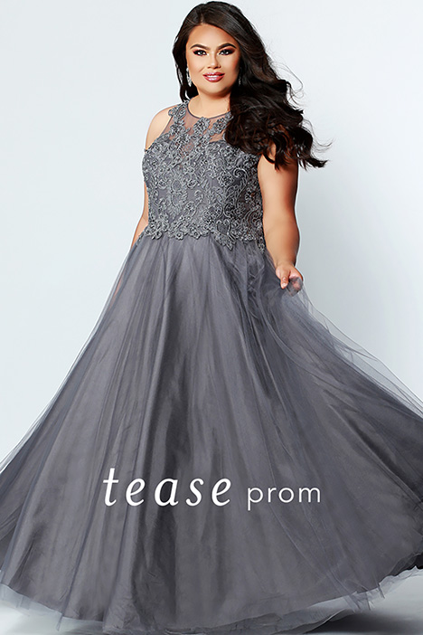 TE 1823 Charcoal gown from the 2019 Tease Prom+ collection, as seen on dressfinder.ca